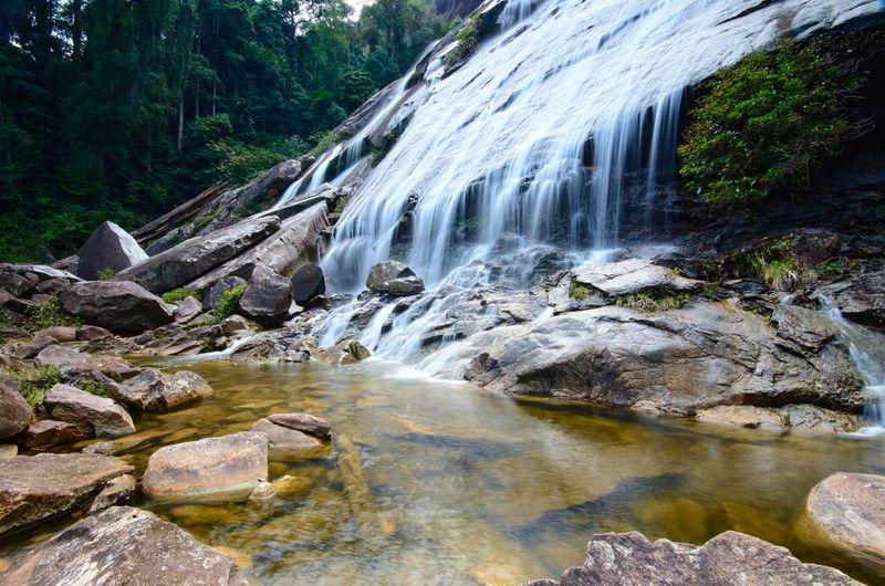 Natural Waterfall at Gunung Stong, state park Kelantan, Malaysia Malaysia Background Wallpaper ASIA Amazing Amazing View Nature Naturelovers Tree Water Waterfall Power In Nature Motion Forest Long Exposure Rock - Object River Sky Flowing Water Flowing Natural Landmark