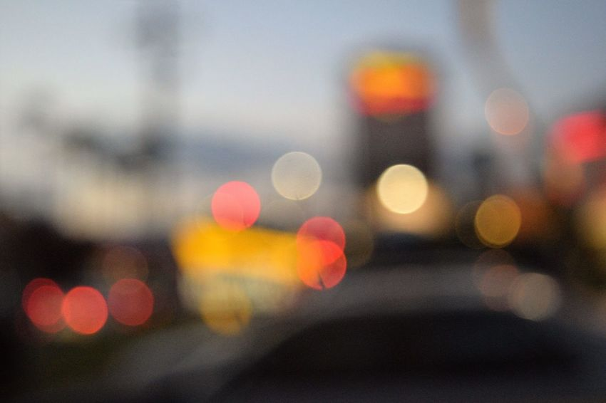 Car City City Life City Street Close-up Defocused Focus On Foreground Illuminated Land Vehicle Mode Of Transport Night No People Outdoors Road Street Traffic Transportation Vehicle Light