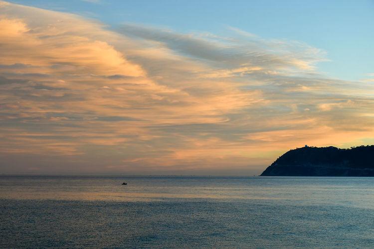 Sea sunset on