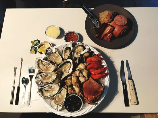 Food And Drink Food Plate Seafood Indoors  Table Ready-to-eat