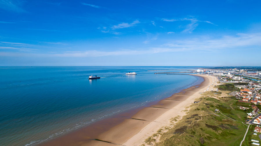 Ferry boats around Calais port, Channel sea, France Atlantic Ocean Channel City Coastline Ferryboat France Harbor Pas De Calais Aerial Photography Beach Blue Calais  Coast Day Ferry Boat French Horizon Over Water Nature Port Sea Seascape Ship Terminal Transportation Water