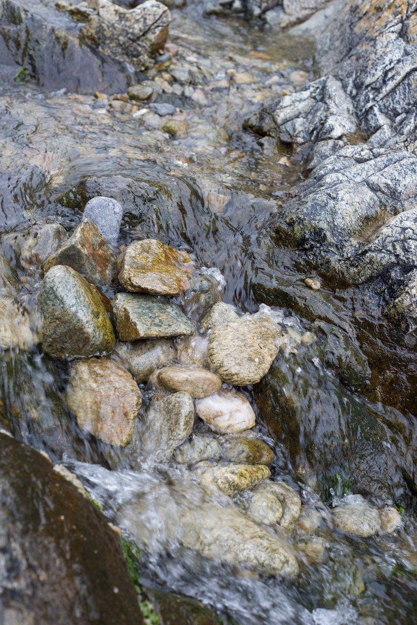 rock, rock - object, water, no people, solid, nature, river, day, outdoors, full frame, close-up, flowing water, backgrounds, textured, adventure, rough, stream - flowing water, rock formation, flowing