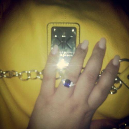 ..Early Xmas Prezzie..Best Besti Ever.. Kardashiankollection Yellow &Gold SapphireRing Spoilt BestBestie XmasPrezzi LoveLoveLove NudeNails
