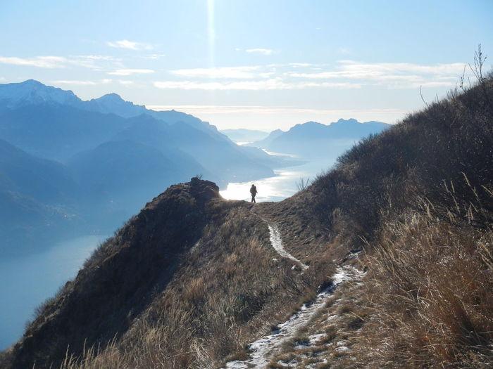 Hiker exploring
