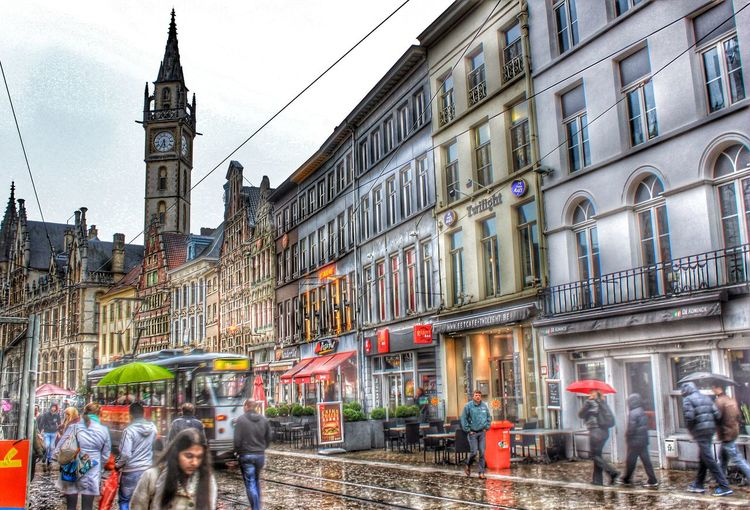 Belgique Belgium Belgium♡ Gand Gent Medieval Architecture Mediaeval Building Urban Exploration People HDR Hdr_Collection