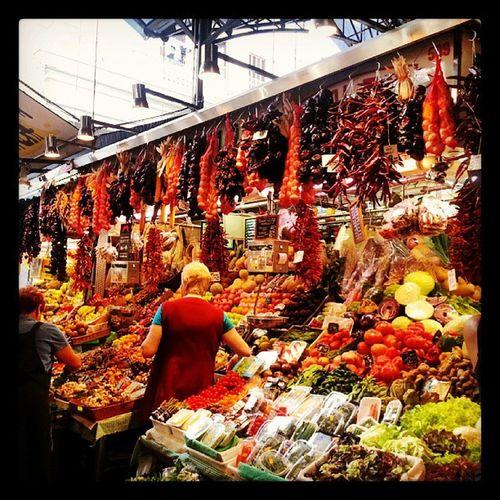 Take me back ♥ Barcelona Food Foodmarkets Markets foodporn fruit endless colour spain happy picoftheday instagram foodporn