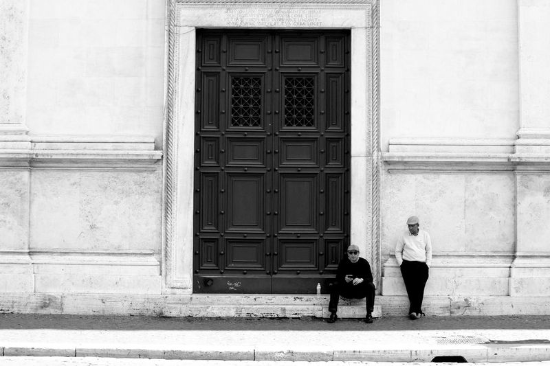 Architecture Building Exterior Built Structure Day Door Full Length PiazzaNavona Streetphoto_bw Two People