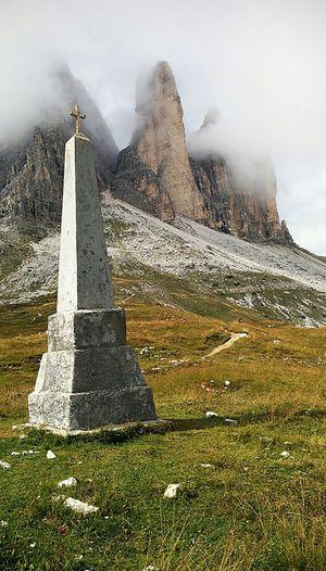 Tre Cime di Lavaredo, Italy, Nexus 5 Mobilephotography Nexus5 Nexus5photography Nexus 5 Nexusphotography Trecimedilavaredo Italy Mountains Dolomites, Italy Dolomiti Italy Popular Photos Fog Clouds Monument