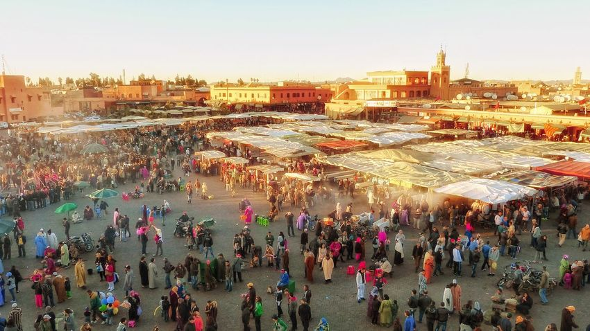 Djemaa El-Fn People Of EyeEm Outdoors People Photography People Early Evening Early Evening Light Early Evening Atmosphere Glow Sundown Sunset Marrakesh Marakesh Marrakesch Djemaa El-Fna