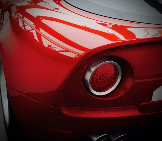 Alfa Romeo Museo Alfa Romeo 8C Car Close-up Lacquer Paint No People Polished Metal Red Sports Car Tail Light