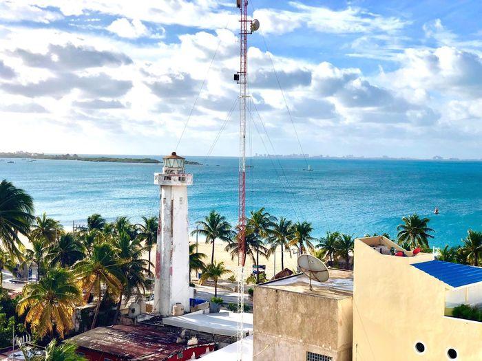 beautiful Isla Mujeres Viewfrombalcony Privlegealuxeshotel Playanorte Honeymoon Water Sea Sky Cloud - Sky Nature Horizon Over Water Horizon Beach Sunlight Tree