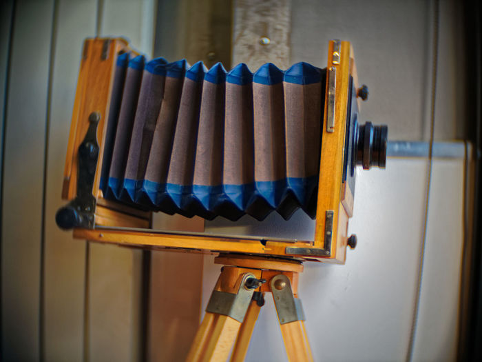 City Camera With Bellows Close-up Day Field Camera Indoors  No People Photo Camera Photography Themes Wood - Material