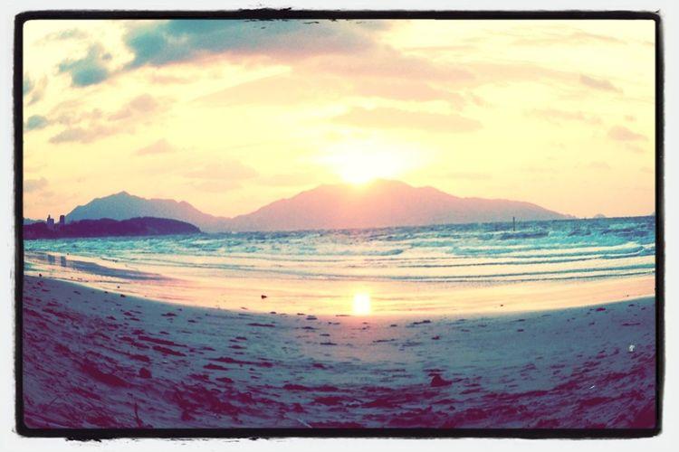 Beach Sunset Ocean
