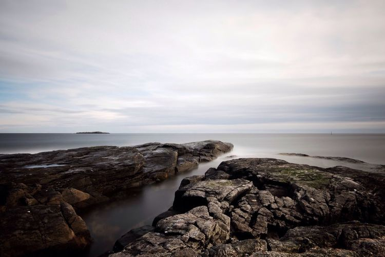 Betterlandscapes Sea Water Rock - Object Nature Horizon Over Water Sky Scenics Rock Formation Beauty In Nature Tranquility Rock Outdoors No People Rocky Coastline Day Cliff Norwegen Nature Norway Weather Storm Cloud Power In Nature Thunderstorm Landscape