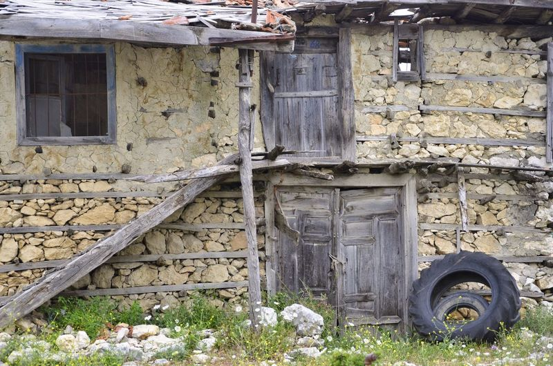 old house in ormana turkey Building Exterior Old No People Damaged House Run-down Nature Wheel Wood - Material Stone Wall Collapsing Tire Window Built Structure Abandoned Day Architecture Outdoors Ormana Hauses Turkey It's About The Journey