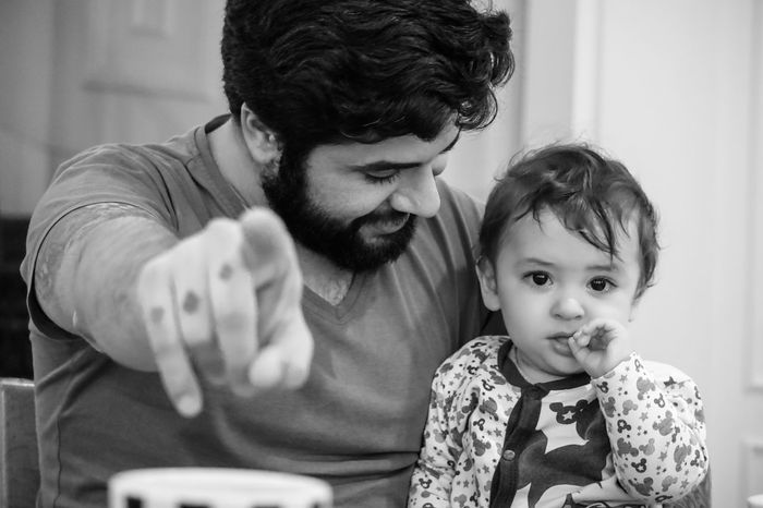 Baby Bearded Black & White Black And White Bw Care Domestic Life Family Family With One Child Father Hand Happiness My Year My View Indicate Indoors  Men Sitting Smiling Son Tattoo Togetherness Young Adult Enjoy The New Normal Chance Encounters Always Be Cozy The Portraitist - 2017 EyeEm Awards