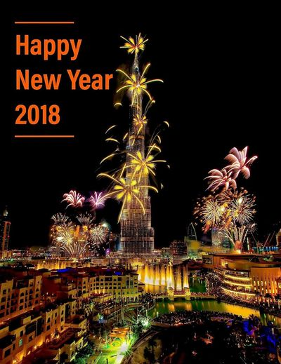 Happy New Year 2018 NewYear Fireworksphotography Fireworks Night Illuminated Text Celebration City Cityscape No People Travel Destinations Architecture Outdoors