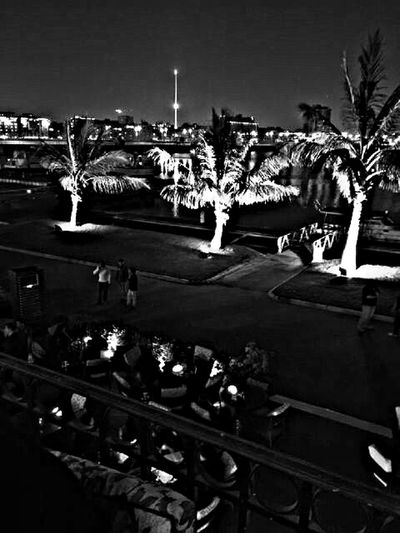 Hyatt Park Jeddah Light And Shadow Blackandwhite Nightphotography