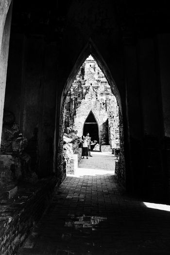 Portals Fujifilm_xseries Thailand Ayutthaya Architecture Built Structure Arch Building Direction The Way Forward Place Of Worship Day Religion The Past Real People History Building Exterior Belief Spirituality Lifestyles Men People Group Of People