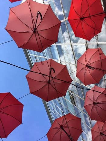 Red Blue Day Outdoors Sky Reflection Umbrella
