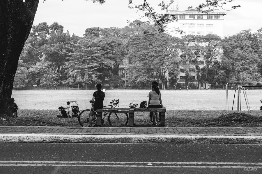 Real People Sky Outdoors Nature People Adults Only Streetphotography Compositions Blackandwhite Eyeem Philippines Fujifilmphilippines Mirrorlessrevolution Fujifilmph Fuji Fujifilm Day EyeEm Manila Campus Life University Street Lifestyles People Watching Peoplephotography Breathing Space
