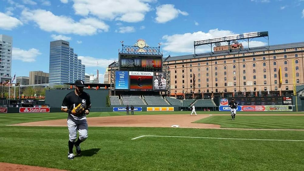 Chicago White Sox Baltimore Orioles MlbFirst game in mlb history with no fans.