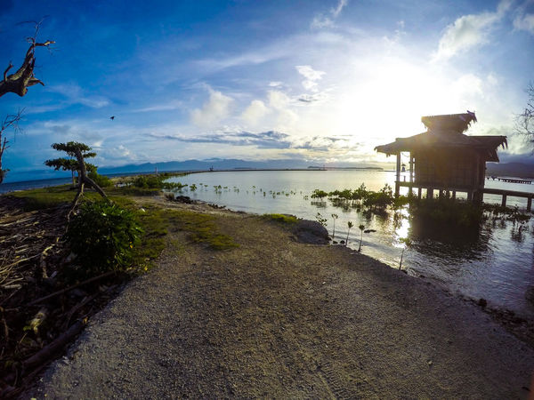 Bahay Kubo Life In The Philippines Nipa Hut Provincelife Samal Island Samal Island, Philippines Summer Vibes Sunrise