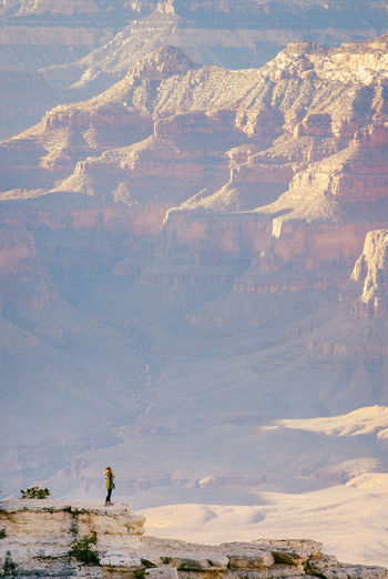 Aint no mountain high enough Adult Adventure Beauty In Nature Cliff Full Length Grand Canyon Landscape Leisure Activity Men Mountain Mountain View Nature One Man Only One Person Only Men Outdoors People Real People Scenics Sky Standing Tranquil Scene Tranquility Water