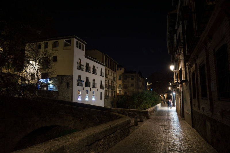 Granada Granada, Spain Andalucía Albaicin Albaycin Building Exterior Architecture Night Illuminated Built Structure City Building Lighting Equipment The Way Forward Nature Street Residential District Direction Tree Footpath Outdoors Plant No People Road Transportation Alley