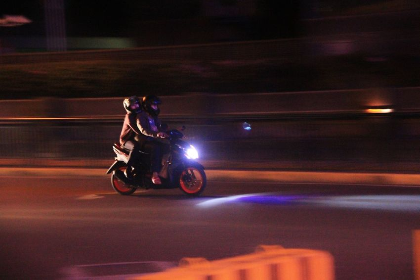 Street Blurred Motion Panning Panning Shoot Panningphotography Motorcycle Transportation Land Vehicle Night Speed Mode Of Transport Riding Motion Adults Only Outdoors Road Adult