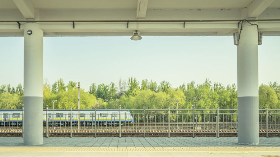 就在春天,耐心等待,那辆火车,总会开来。 train Railing Station Railway Station Train Spring Trees Platform