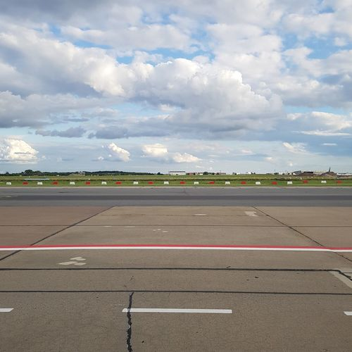 Cloud - Sky Airport Runway Airport Day Schönefeld Airport Samsungphotography Red Red Accent Red And White Red White Blue Clouds Clouds And Sky Sky The Week On EyeEm