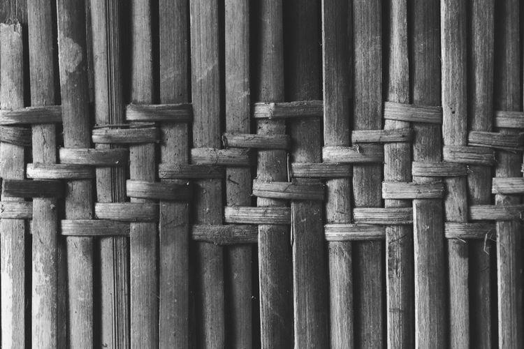 Full Frame Shot Of Wicker Wall