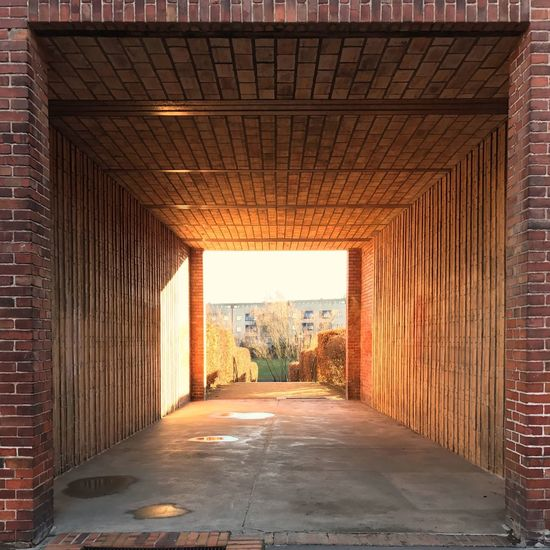 Berlin Architecture Neighborhood First Eyeem Photo Tunnel Entrance Red Brick Wall Nature Sun Morning Light And Shadow