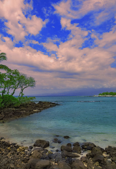 Abay Beach Beauty In Nature Blue Cloud - Sky Day Horizon Over Water Nature No People Outdoors Scenics Sea Sky Tranquil Scene Tranquility Tree Water
