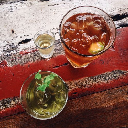Drinks Mint Lemonade Ice Tea Homemade Drinking Gula Table Lunch From Above  Date Non Alcoholic Mojito!