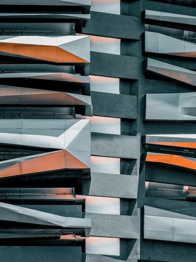 Full frame shot of brutal style architectural facade