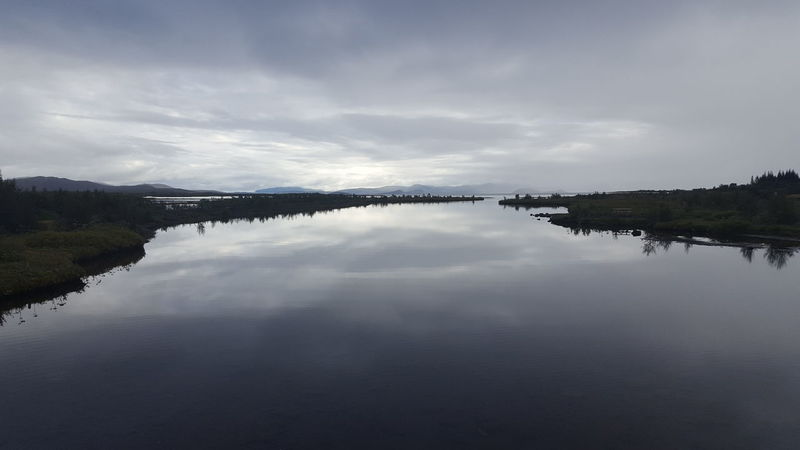 Beauty In Nature Calm Cloud - Sky Countryside Day Lake Majestic Mountain Nature No People Non-urban Scene Pingvellir Reflection Remote Scenics Sky Standing Water Thingvellir National Park Tourism Tranquil Scene Tranquility Water Waterfront