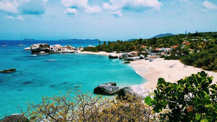 Landscape Boat EyeEm Best Shots - Nature Rocks The Baths British Virgin Islands Ocean Sailing Waves Shore