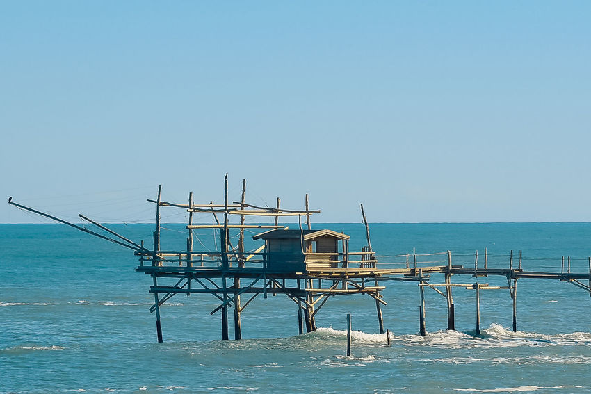Beach Beauty In Nature Blue Clear Sky Day Horizon Over Water Nature No People Outdoors Scenics Sea Sky Trabocchi Coast Trabocco Tranquil Scene Tranquility Water