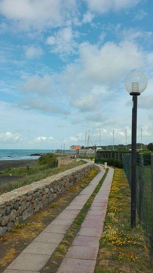 Sea Mare Clouds And Sky Lungomare Cielo E Nuvole Cloudscape Walkway Castle