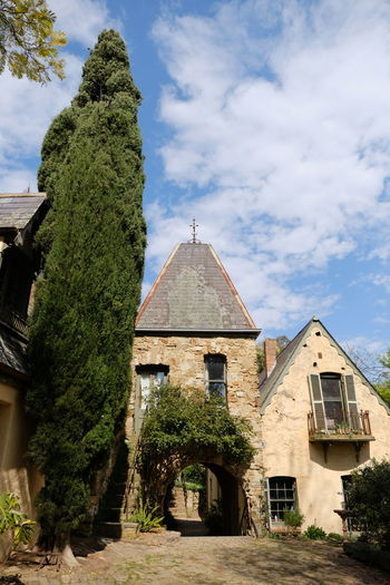 Shot at Montsalvat, Eltham. Architecture Building Exterior Built Structure Cloud - Sky Day Growth History House Nature No People Outdoors Sky Tree
