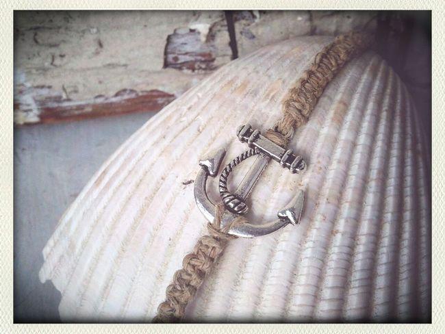 Handmade anchor hemp bracelet available at https://www.etsy.com/shop/LilacAndLemon Jewelry