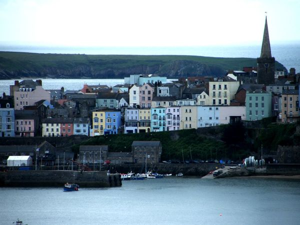 Architecture Building Exterior Built Structure City Cityscape Coloured Houses Crowd Day Large Group Of People Nature Nautical Vessel Outdoors Pembrokeshire Pembrokeshire Coast Pembrokeshire Coastal Path People Sea Sky Tenby Tenby Harbour Water