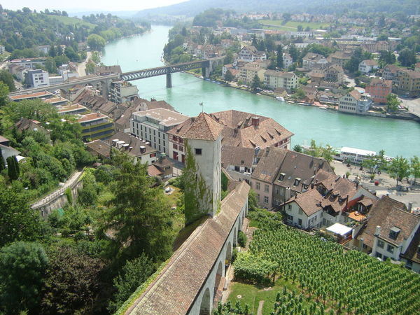 View of the Rhine river from the Munot 16th Century Historical Building Architecture Day No People Outdoors Town Tree