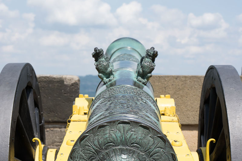 Details from the Festung Königstein Festung Königstein Cannon Close-up Cloud - Sky Day Detail History Military No People Outdoors Weapon