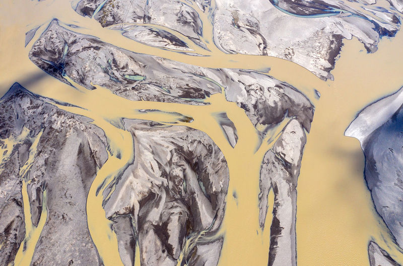 Aerial view of vatnajokull