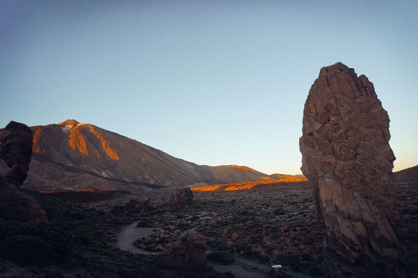 tenerife Teide National Park Beauty In Nature Clear Sky Day Geology Landscape Mountain Nature No People Outdoors Physical Geography Rock - Object Scenics Sky Tenerife Tranquil Scene Tranquility
