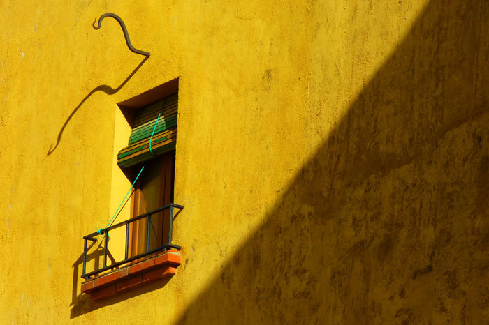 Architecture Building Exterior Built Structure Day No People Outdoors Shadow Staircase Steps Steps And Staircases Sunlight Wall - Building Feature Window Yellow