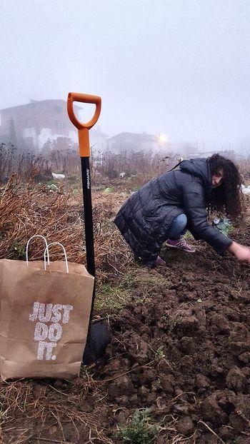 Just Do It Fiskars Planting Soil Treatment First Eyeem Photo